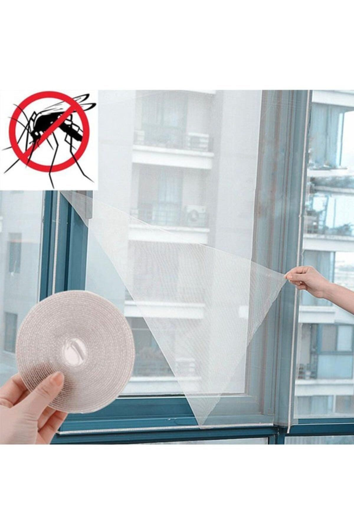 Window Glass Fly Screen 150x130cm Adjustable Syntax Tulle Fly Screen